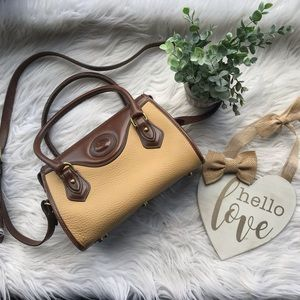 Dooney & Bourke Tan Brown Pebbled Leather Handbag